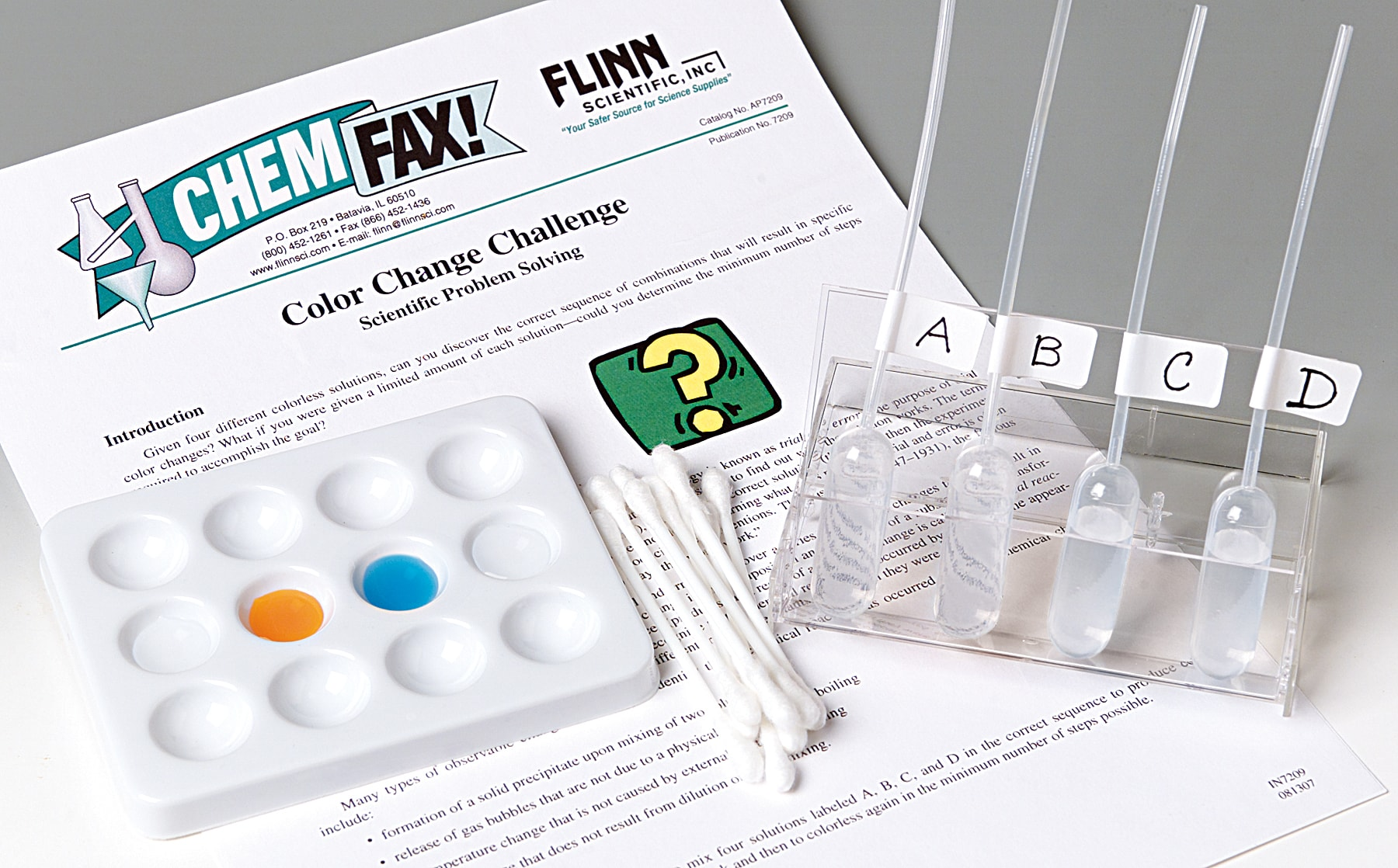 Color Change Challenge and Problem-Solving Guided-Inquiry Kit