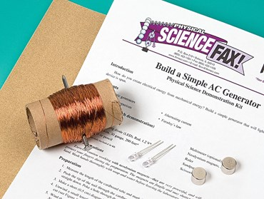 Build a Simple AC Generator Demonstration Kit for Physical Science and Physics