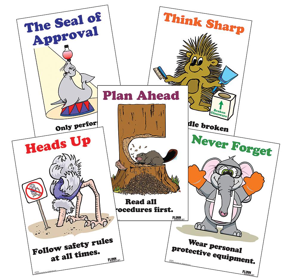 Laboratory Safety Poster Set