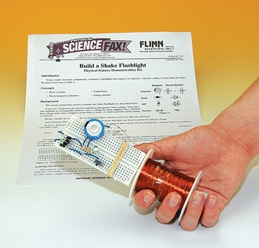 Build a Shake Flashlight Electricity and Circuits Demonstration Kit