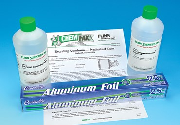 Recycling Aluminum and Synthesis of Alum Chemistry Laboratory Kit