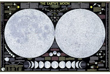 Moon Poster for Astronomy and Space Science