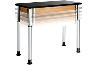 "Adjustable Student Lab Table, Plastic Laminate, 24"" x 48"" x 30"""