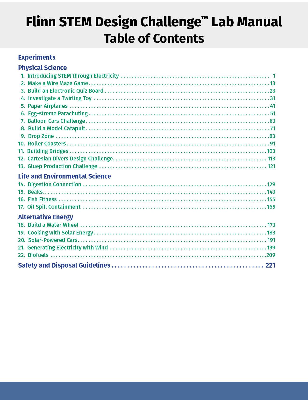 Flinn STEM Design Challenge™ Lab Manual