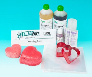 Polyurethane Foam Hearts Laboratory Kit for Chemistry and Physical Science