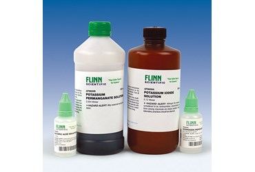 Potassium iodide solution, sulfuric acid solution, potassium permanganate solution
