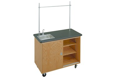 Mobile Demonstration Lab Table for the Science Classroom, Economy Size with Extended Top