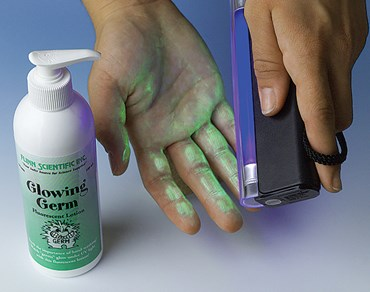 Glowing Germ Contamination Demonstration Kit for Microbiology