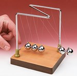 Newtonian Demonstrator / Newton's Crade (Economy Choice) for Physical Science and Physics