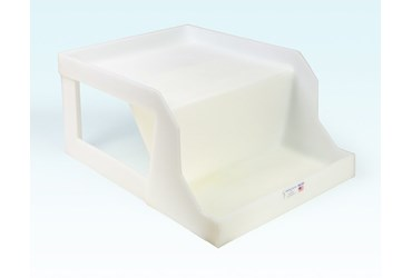 Deep Shelf Carboy Dispensing Tray for Safety