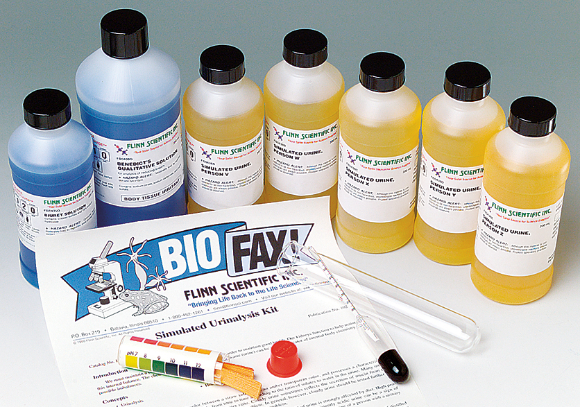 Simulated Urinalysis Anatomy and Physiology Laboratory Kits for ...