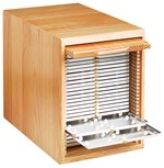 Wooden Microscope Slide Storage Cabinet
