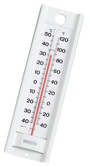 Whiteback Wall Thermometer for Earth Science and Meteorology