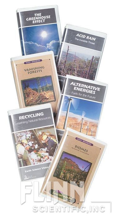 Environmental Science Video Series, Set of 6 DVDs