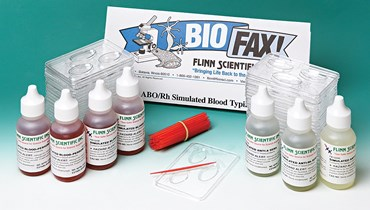 ABO/Rh Simulated Blood Typing Anatomy and Physiology Kit