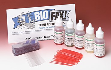 ABO Simulated Blood Typing Anatomy and Physiology Kit