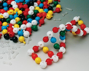 White Pop Beads with 5 Holes