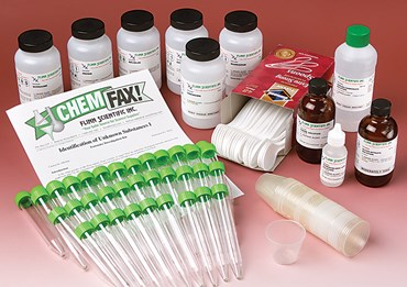 Identification of Unknown Substances I Forensics Laboratory Kit
