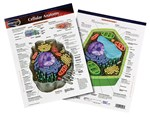 Plant and Animal Cell Anatomy Chart for Biology and Life Science