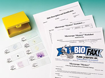 "Microscope ""Mystery"" and A Drawing, Identifying, and Size-Estimating Challenge Kit for Biology and Life Science"