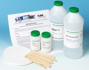Juicing Enzymes and Enzymes Used in the Food Industry Biochemistry Laboratory Kit