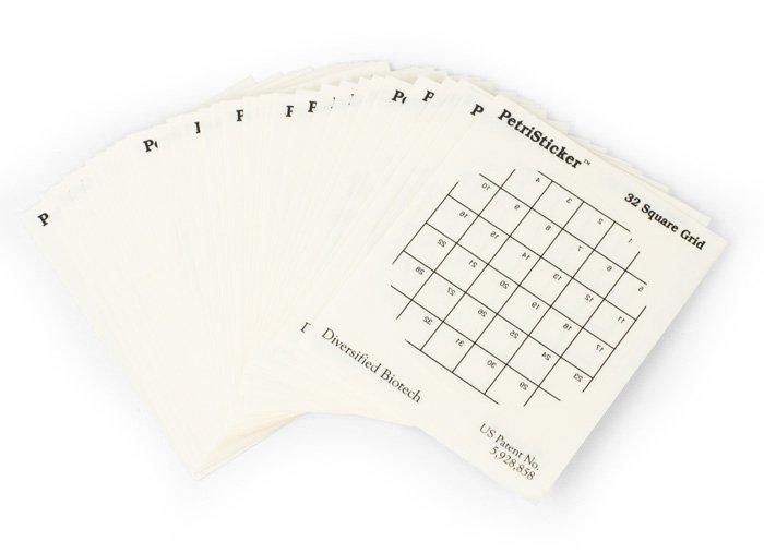 PetriStickers, 32-Square Grid, 3