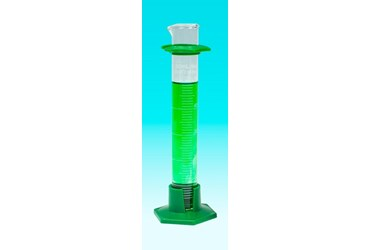 Borosilicate Glass Graduated Cylinder with a Plastic Base 10 mL