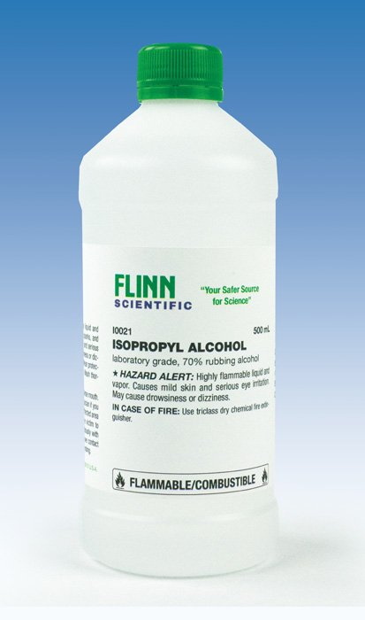 Isopropyl Alcohol, 70%, Laboratory Grade, 500 mL
