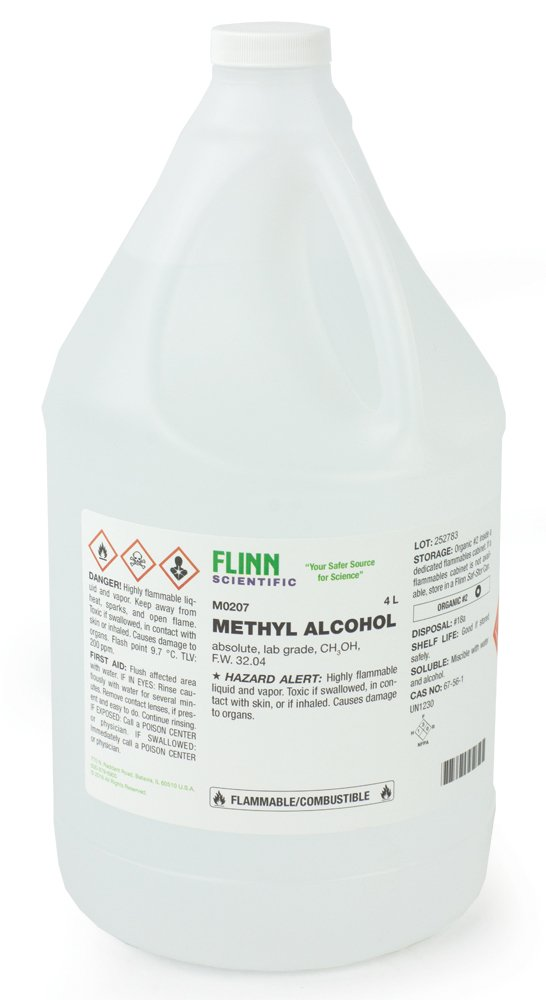 Flinn Chemicals, Methyl Alcohol