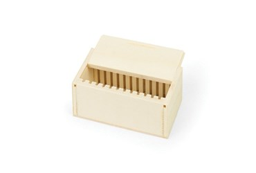 12-Slide Wooden Box for Rocks and Minerals Slides for Biology and Life Science
