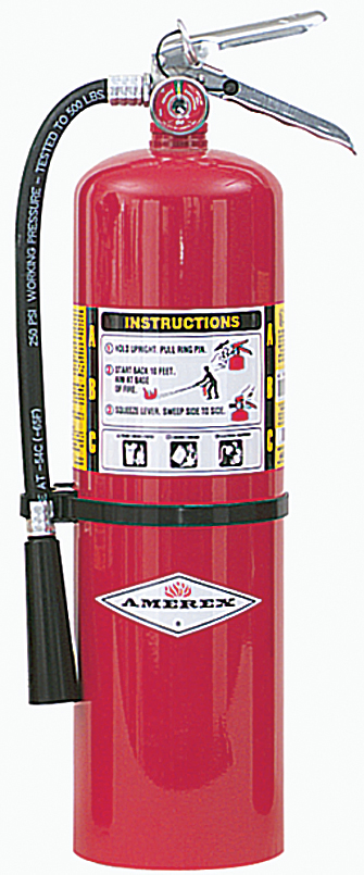 Fire Extinguisher, Dry Chemical, ABC, 10 Lb