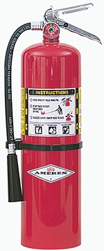 Lab Safety Dry Chemical Fire Extinguisher, ABC, 8 lb
