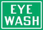 "Safety Sign ""Eye Wash"""