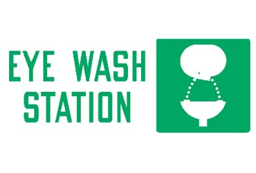 "Safety Sign ""Eye Wash Station"""