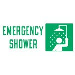 "Safety Sign ""Emergency Shower"""