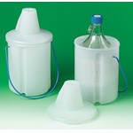 Polyethylene Bottle Carrier for Safe Chemical Transport