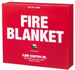 Lab Safety Fire Blanket and Case