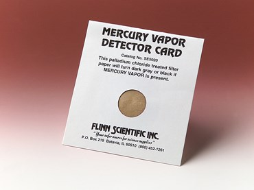 Mercury Vapor Detector and Indicator Card