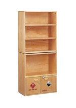 Wooden Chemical Storage Shelving System for Safer Lab Storage