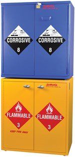 Flinn/SciMatCo® Jumbo Stacking Flammables Cabinet with Self-Closing Doors for Safer Chemical Storage