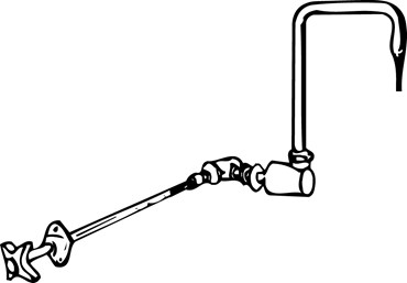 Water Outlet and Gooseneck Faucet for Flinn Lab Fume Hood