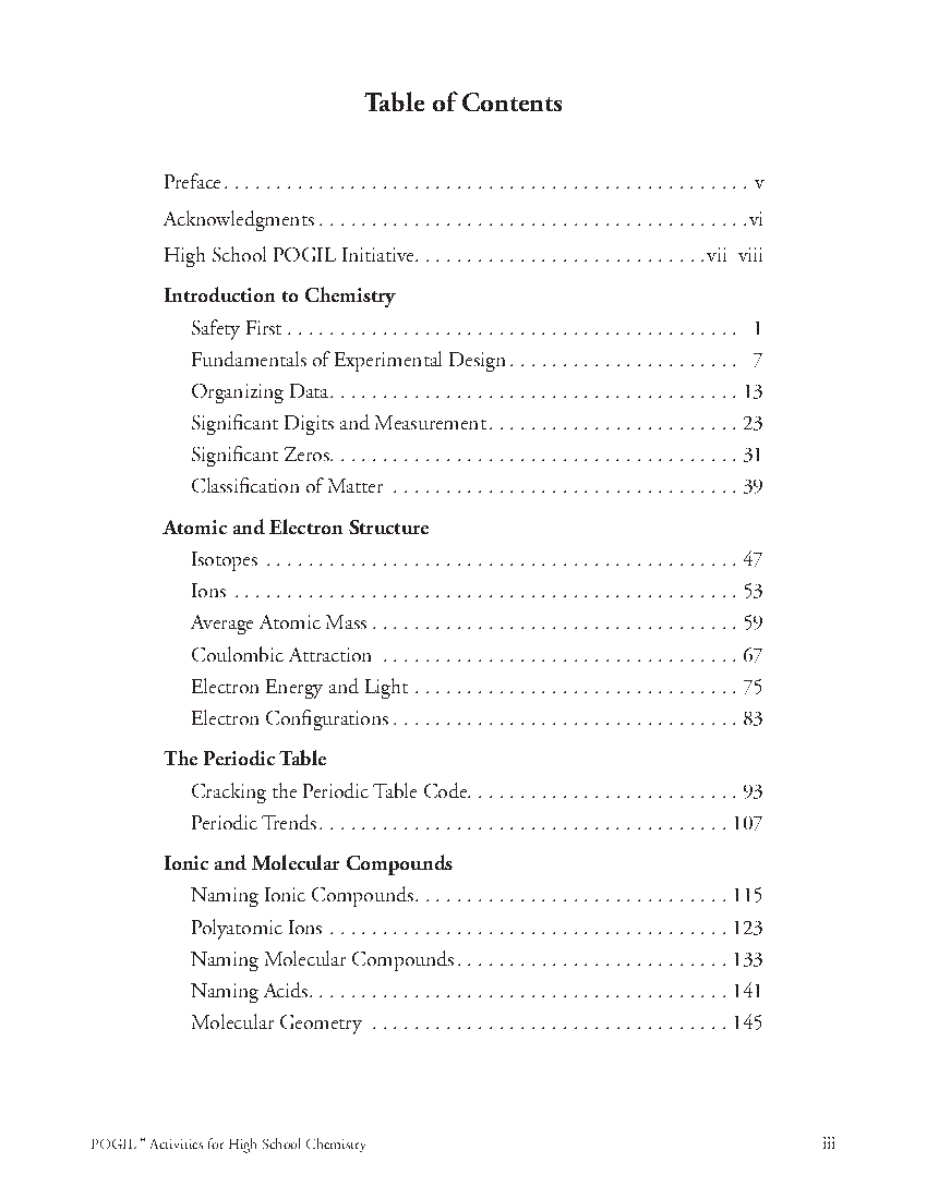 4 PDF POGIL BIOLOGY TABLE OF CONTENTS PRINTABLE DOWNLOAD ...