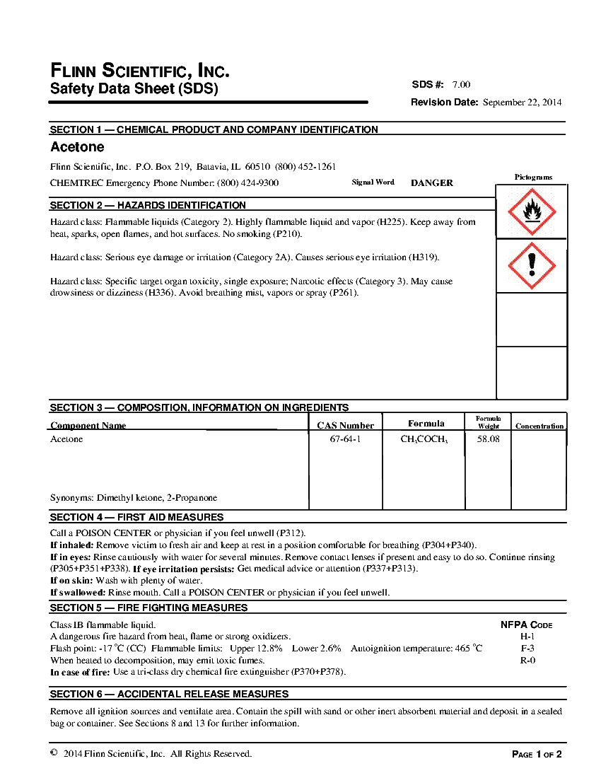 sds document