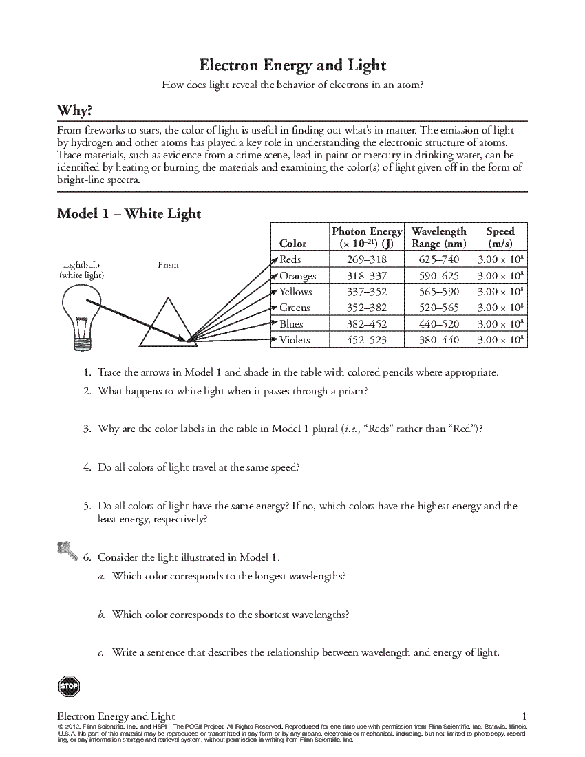 pogil activities for high school chemistry equilibrium answer key